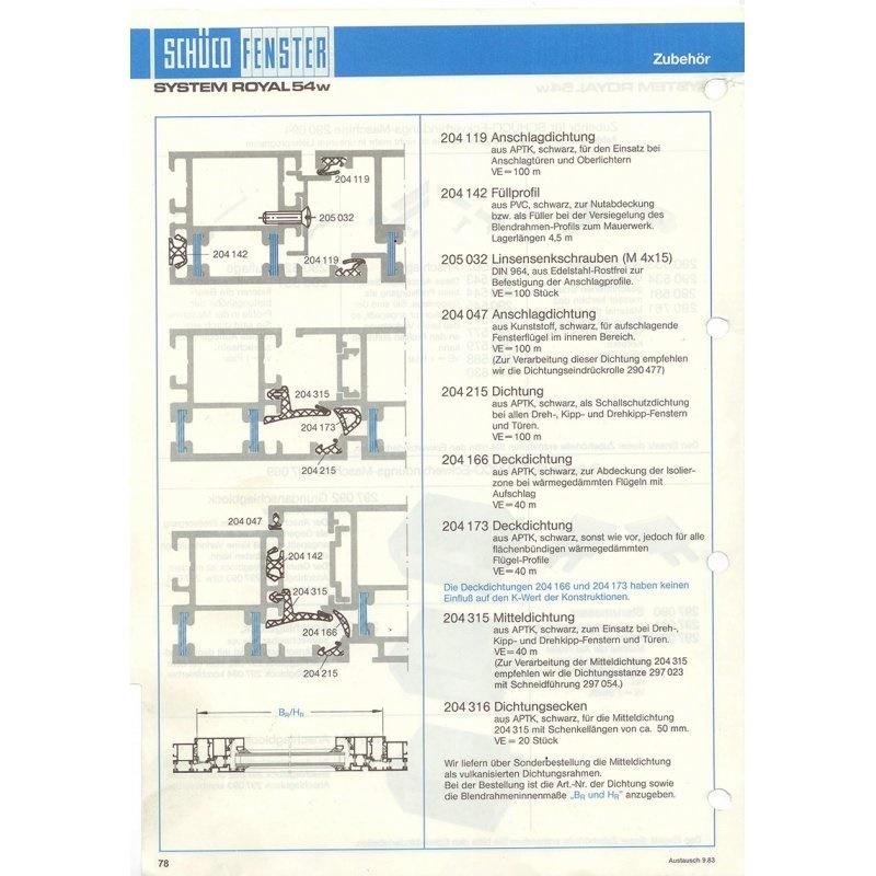 sch co dichtungsgummi 204119 f r 3 95 pro meter. Black Bedroom Furniture Sets. Home Design Ideas